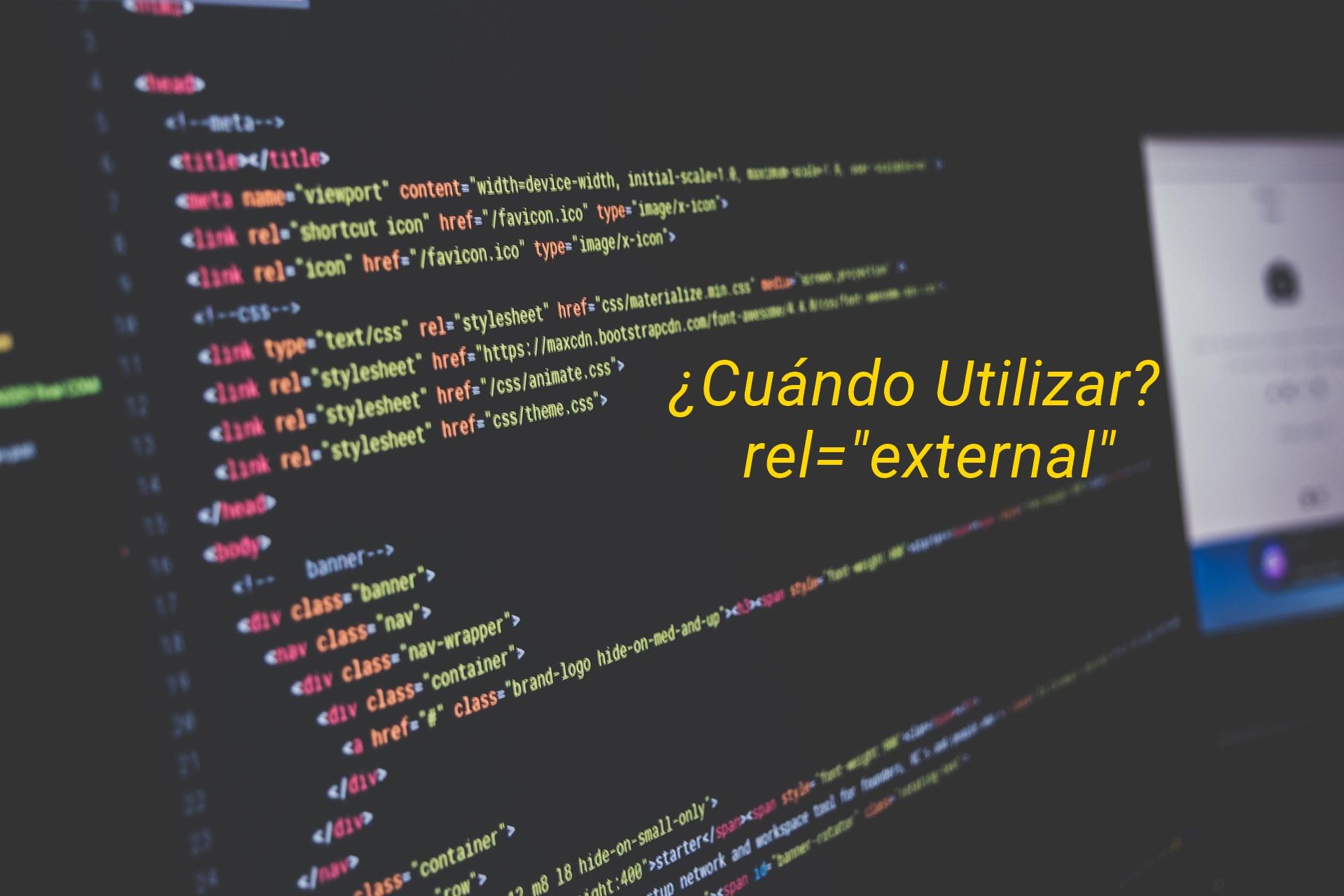 Cuándo utilizar el atributo rel external en los backlinks